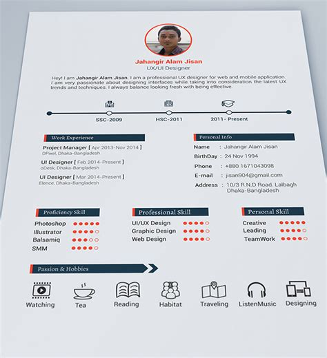 pretty resume template 30 free beautiful resume templates to hongkiat
