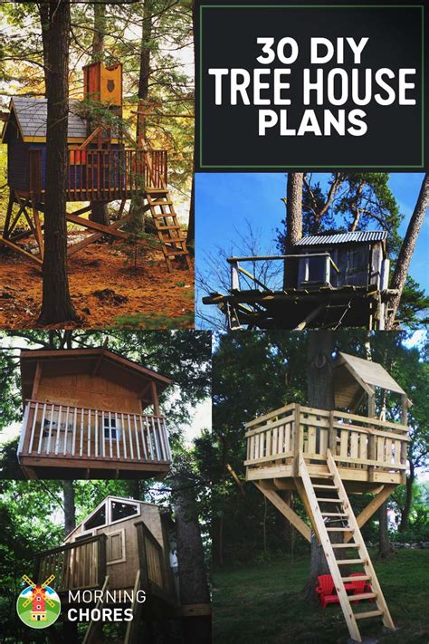 diy tree house plans design ideas  adult  kids