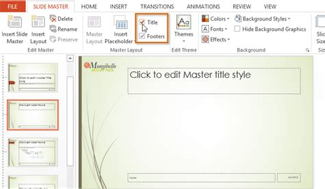 powerpoint master template edit gavea info