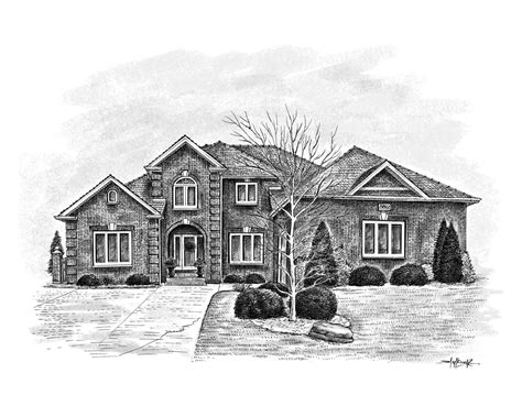 houses drawings house sketches drawn from a photo great realtor client gift