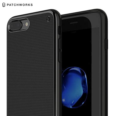 Patchworks Iphone 7 Plus Flexguard Black 1 Husa Iphone 7 Plus Patchworks Flexguard Jet Black