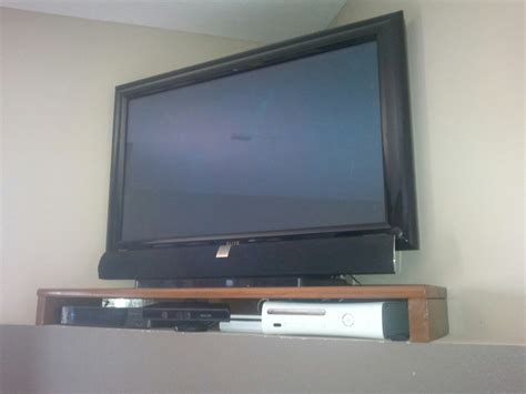Wood Tv Shelf by How To Build Corner Shelf For Tv Plans Diy Free