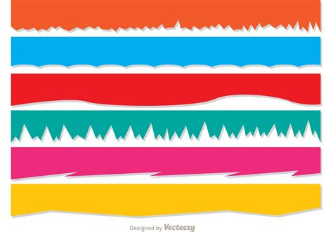 torn paper vector banners pack download free vector art