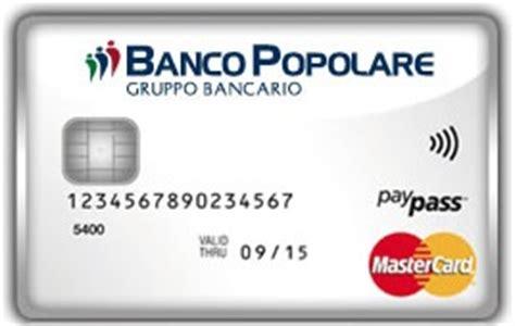 carta prepagata popolare carta di credito banco popolare guida all offerta