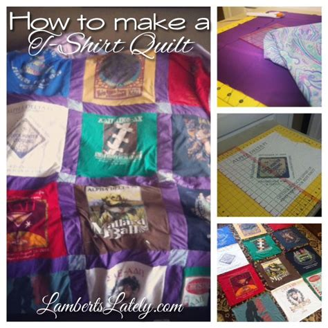 How To Make A Tshirt Quilt Step By Step by How To Make A T Shirt Quilt
