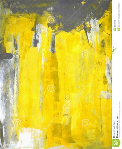 painting greys grey and yellow abstract art painting stock image image