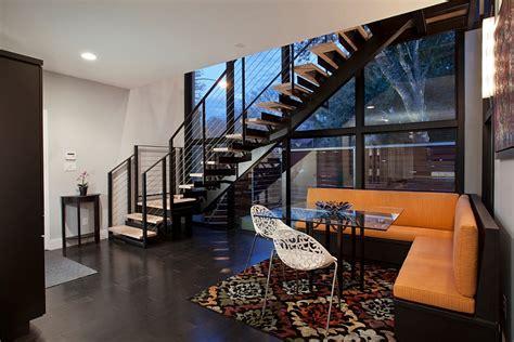 contemporary austin renovation creates  bright colorful home