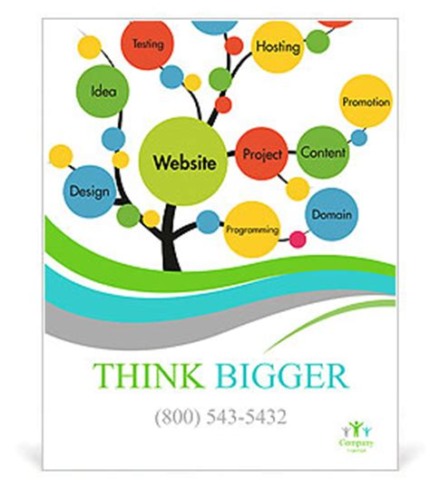 Website Development Tree Poster Template Design Id 0000009175 Smiletemplates Com Tree Poster Template