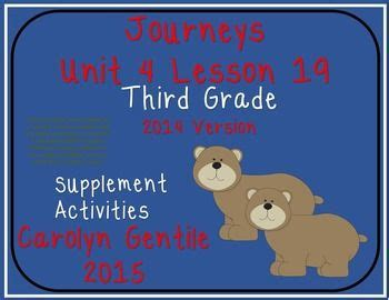 supplement used in a sentence two cubs journeys unit 4 lesson 19 third grade 2014