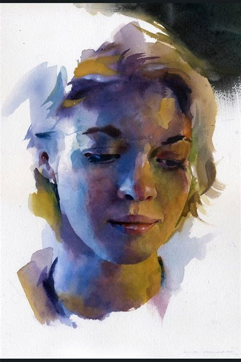 watercolor tutorial face stan miller s watercolor portrait demo art pinterest