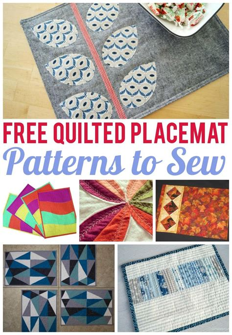 Quilting Placemats by 7 Free Quilted Placemat Patterns You Ll On Craftsy Placemat Patterns Placemat And