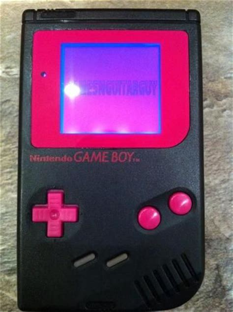 mod gameboy for chiptunes custom nintendo gameboy biverted punk pink backlit mod