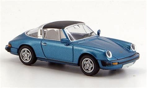 Auto Kr Ne by Porsche 911 G Modell Targa Blau Abnehmbares Dach Brekina