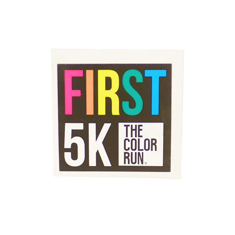 5k die cut sticker the color run store