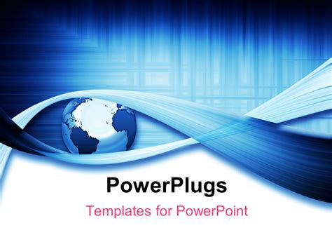 powerplugs templates for powerpoint download powerpoint template a globe with a number of bluish lines