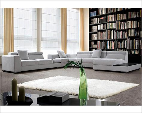 Modern Microfiber Sectional Sofas Grey Microfiber Contemporary Sectional Sofa Set 44l0615