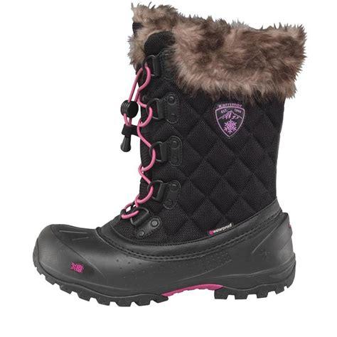 buy karrimor womens alaska weathertite snow boots black