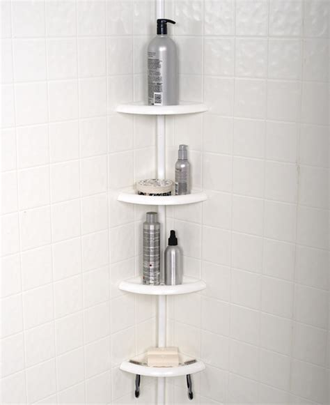 zenith products tub and shower tension pole caddy 4 shelf