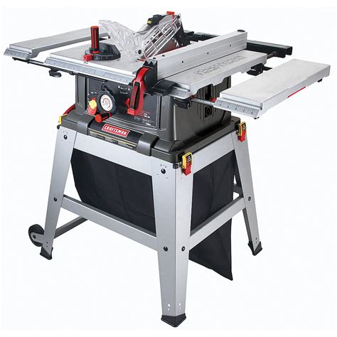 10 inch table saw craftsman 21807 portable table saw review table saw central