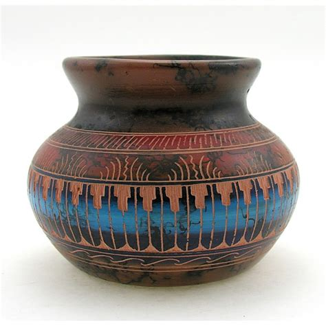 Navajo Vase by American Navajo Vase By Marilyn Grey