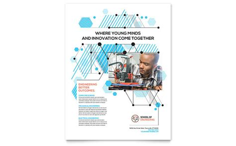 Computer Engineering Flyer Template Design Engineering Poster Template