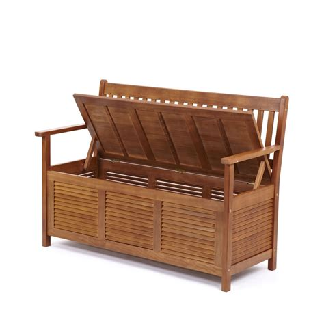 garden bench storage garden patio outdoor solid hardwood wooden bench seat