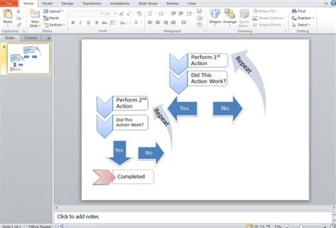 How To Create A Flowchart Using Smartart In Powerpoint 2010 How To Make A Flowchart In Powerpoint