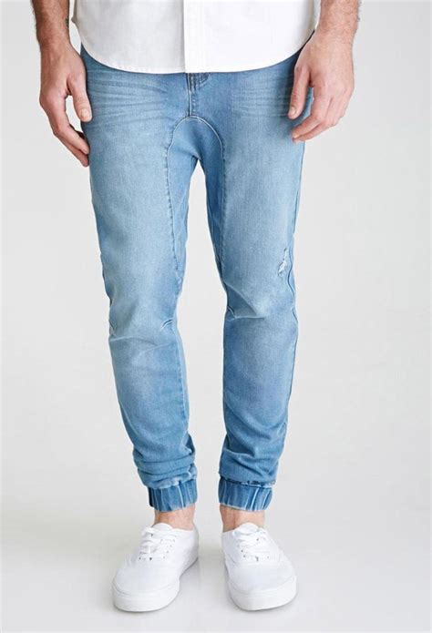 light blue jean joggers 1000 ideas about s on s