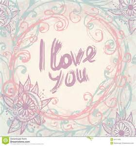 i vintage i love you greeting card template in vintage hand