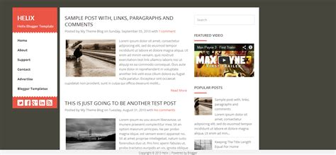 helix blogger template cool blog templates premium