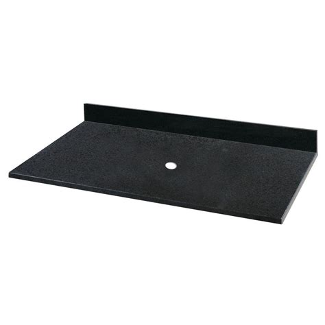 vanity tops without sink pegasus 25 in granite vessel vanity top in black without basin 52624 the home depot