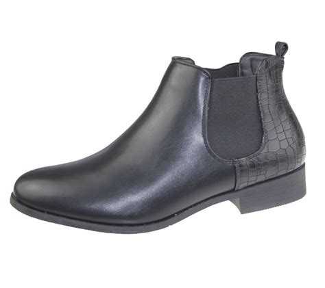 Tragen 02 Casual Boots womens ankle boots chelsea high top casual elasticated shoes size ebay