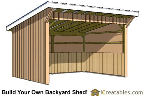 run  shed plans building   horse barn icreatables