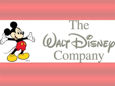The Walt Disney Company Walt Disney Powerpoint Template