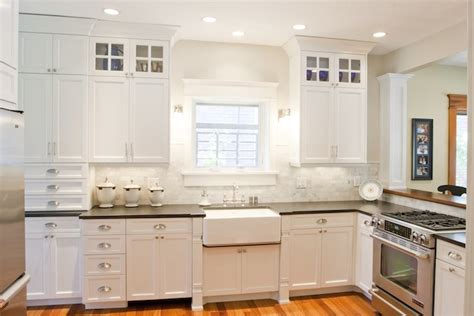 white kitchen cabinets with white countertops black countertops design ideas