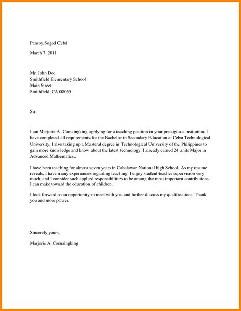 College Letter To 8 how to write a college application letter resumed