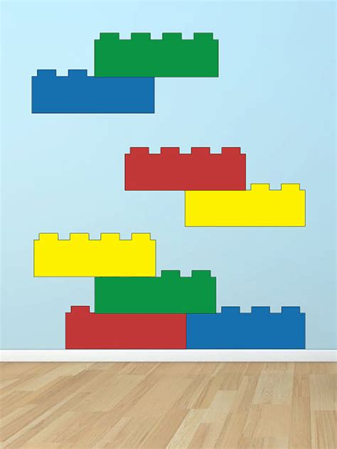 Lego Wall Decor by Lego Blocks Vinyl Wall Decal By Grabersgraphics On Etsy
