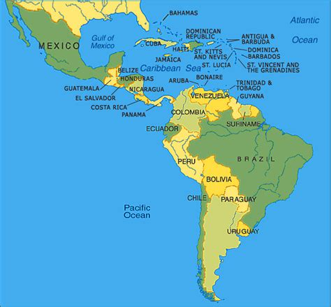 south america map bodies of water labamba latinamerica america