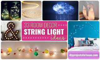 lights room decor 33 awesome diy string light ideas diy projects for
