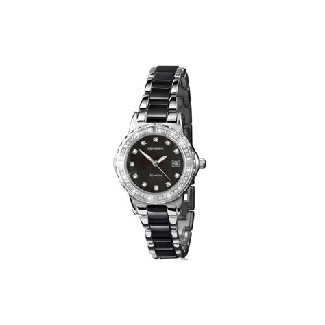 sekonda silver black bracelet 4084 www