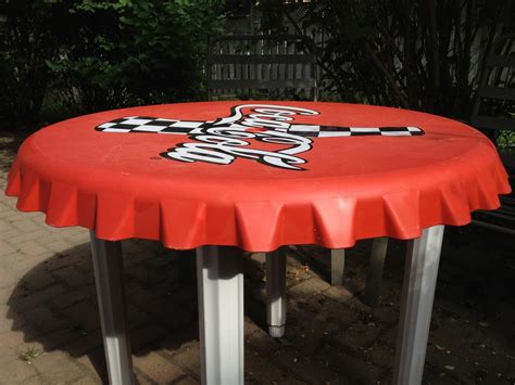 coca cola bottle cap table collectors weekly