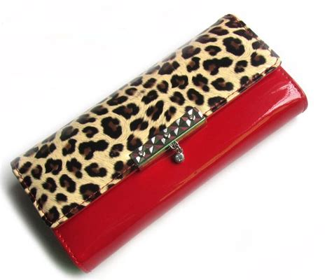 Up Of Designer Animal Print Clutch by Fashion Leopard Print Wallet Patent Leather