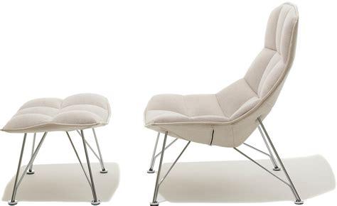 ottoman lounge chair jehs laub wire lounge chair ottoman hivemodern com