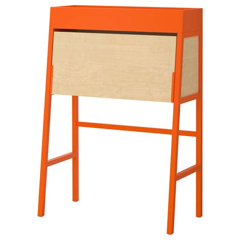 ikea ps 2014 bureau orange birch veneer 90x127 cm ikea