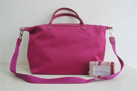 L C Neo Circle Size Medium Handbag new collection longch le pliage neo with sling medium size m hydrangea pink