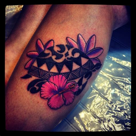 polynesian tribal flower tattoos polynesian turtle hawaiian flowers ideas
