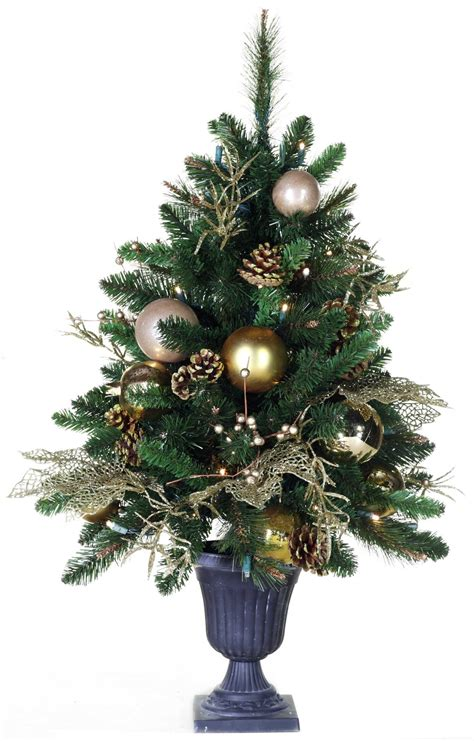 artificial table top trees prelit tree with pine cones and berries great u
