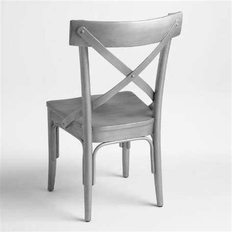 Gunmetal Bistro Chairs Gunmetal Wood Bistro Chairs Set Of 2 World Market