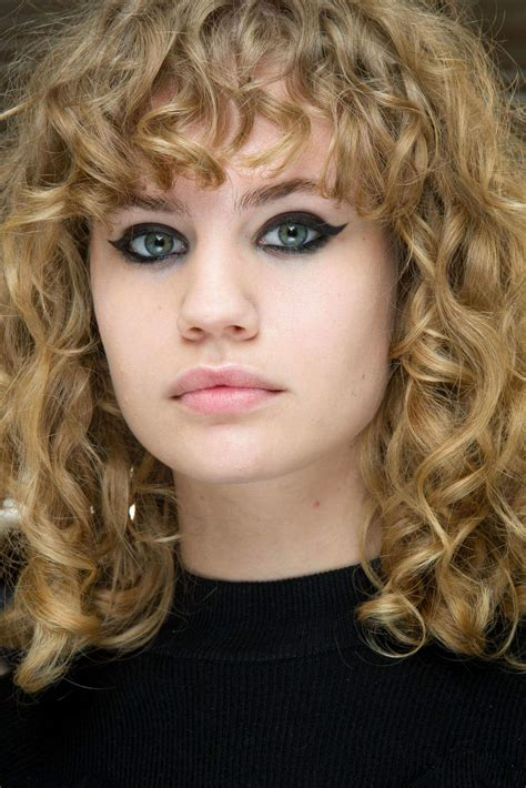 curly hairstyles with fringe for long hair shag haircut trend inspirational hairstyling and haircut