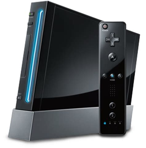 wii console black image wii console black png nintendo 3ds wiki